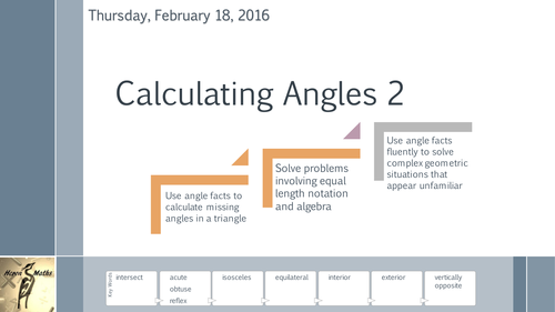 Calculating Angles 2 - Triangles