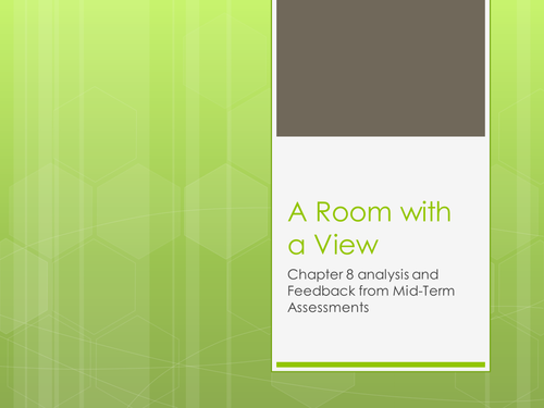 A Room with a View lesson resources for part 2 of the novel