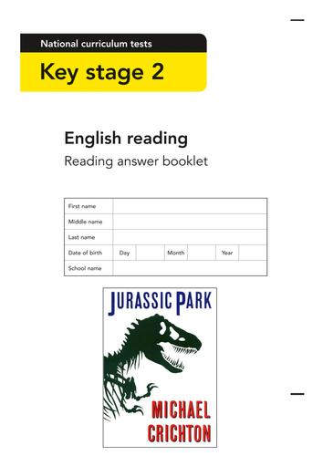 LastingLiteracyLessons - Reading Comprehension - Jurassic Park by Michael Crichton - Dinosaurs