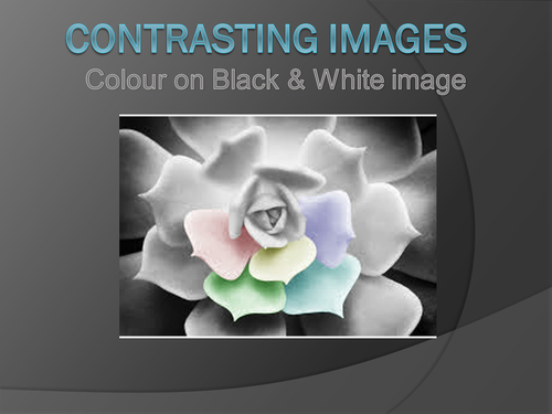 Art/Photoshop: Contrasting Images (Black and white to colour).