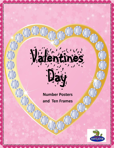 Valentine's Day Number Posters