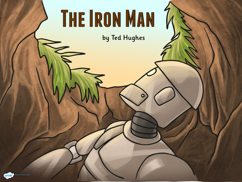 Powerpoint/presentation Guided reading resources for The Iron Man by Ted Hughes