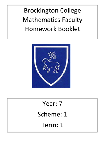 Brockington College Maths homework booklets