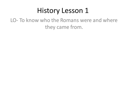 The Romans and Boudicca- 12 lessons, all presentations and resources included (complete term)