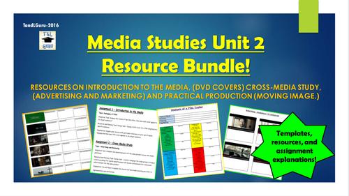 Media Studies: Unit 2 Assignments Resource Bundle!