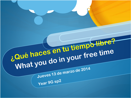¿Qué haces en tu tiempo libre? What do you do in your free time?  based on MIRA book
