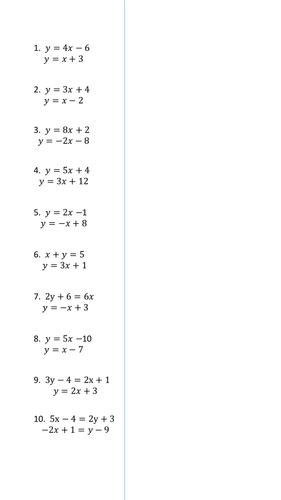 Worksheet Simultaneous Equations Worksheet basic simultaneous equations substitution by danielwkelly teaching resources tes