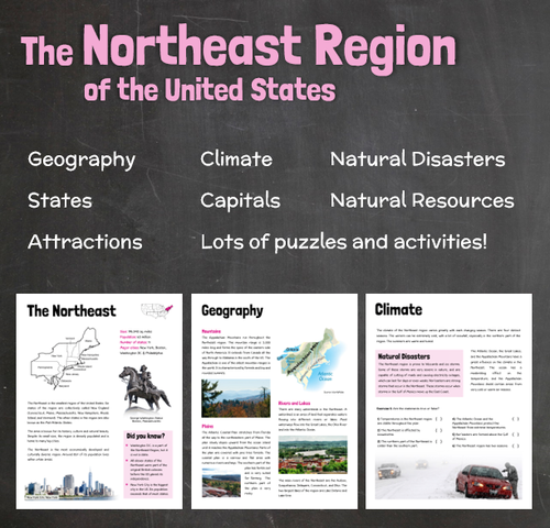 Regions Of The United States Worksheet - Delibertad
