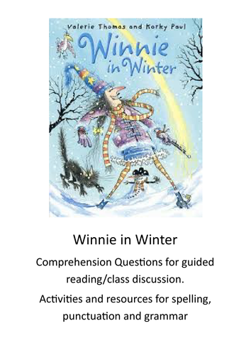 Winnie in Winter: Comprehension questions and activities & resources to support SPaG