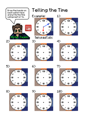Learn to Tell the Time using Minecraft