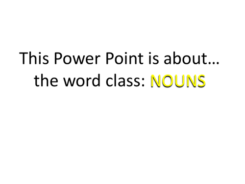 Grammar Explained: Nouns