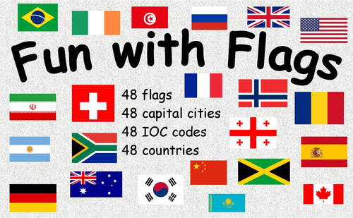 fun with flags learn flags countries capitals and ioc codes by