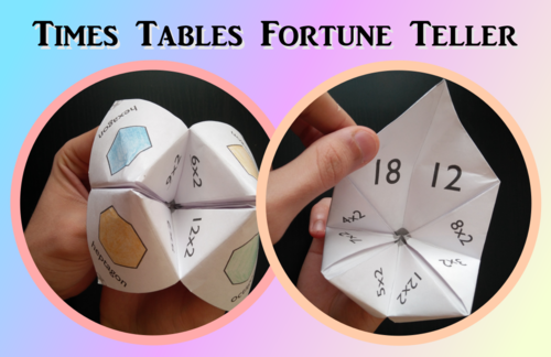 Times Tables Fortune Tellers / chatterbox