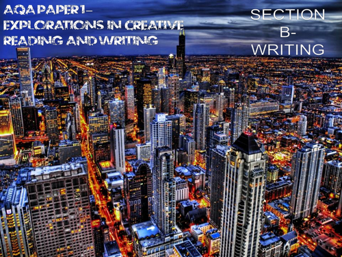 AQA English Language GCSE - Paper 1, Section B SOW- Explorations in Creative Writing