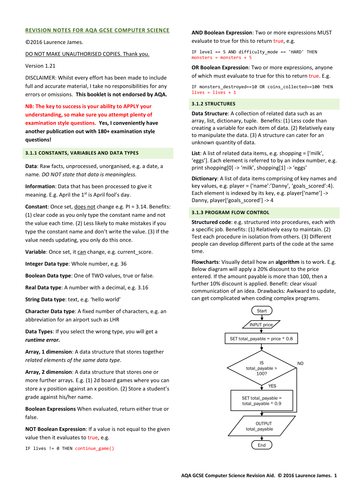 Aqa gcse computer science revision notes aqa gcse computer science revision notes by clickschool teaching resources tes publicscrutiny Gallery