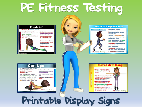 pe fitness testing printable display signs by ejpc2222. Black Bedroom Furniture Sets. Home Design Ideas