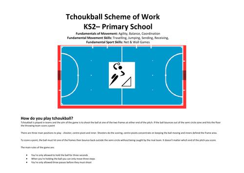 Tchoukball KS2 6 Week SoW
