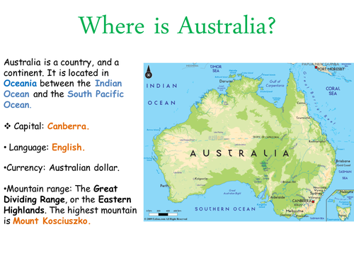 About Australia/ World around us/ Countries of the world