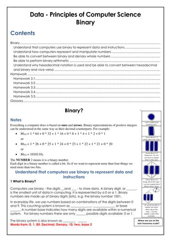 GSCE COMPUTING Binary Workbook