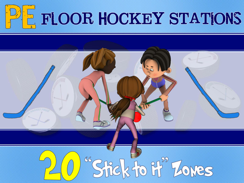 Pe Floor Hockey Stations 20 Stick To It Zones By Ejpc2222