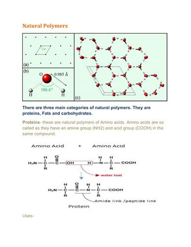 Natural polymers_IGCSE