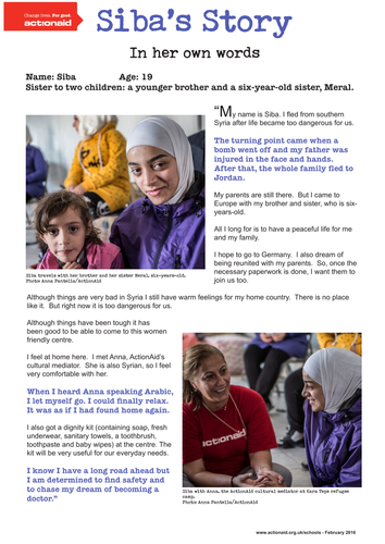 Refugees: In their own words