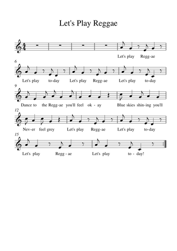 Spring 2 Year 5 Sheet music and song pack: Caribbean Carnival (Unit 4)
