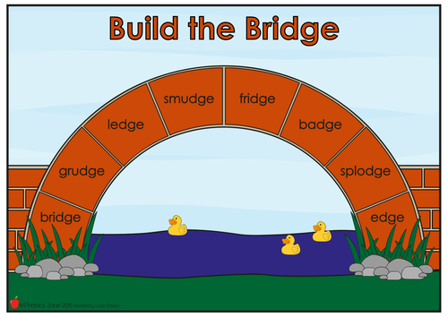 dge Phonics Game 'Build the Bridge'