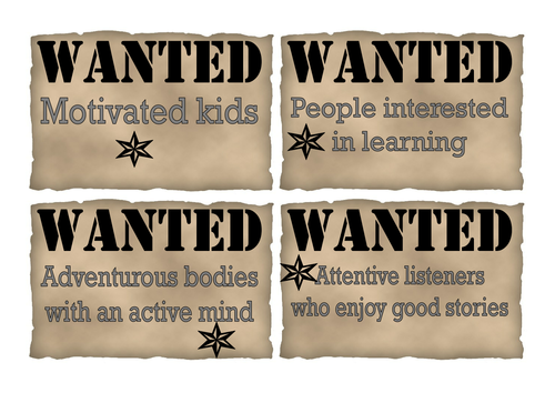 Positive pupils Wanted posters