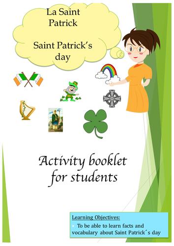 Saint patrick Day in French (lesson + exercices)/ La Saint Patrick en français (no Prep)