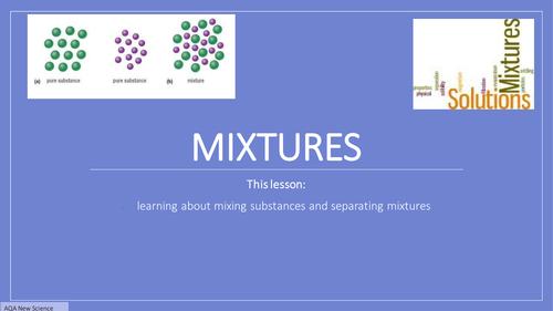 New GCSE Chemistry 2016 Mixtures FULL Lesson