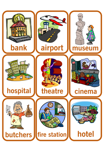 Places in the town. by Olynj | Teaching Resources
