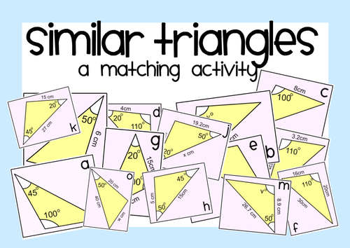 Similarity and Congruence Unit Proving Triangles Similar – Similar Triangles Worksheet Pdf