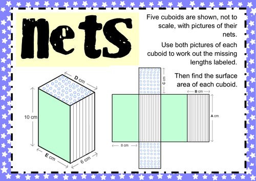 Surface Area Nets Problems by MathspadUK Teaching Resources Tes – Surface Area Nets Worksheet