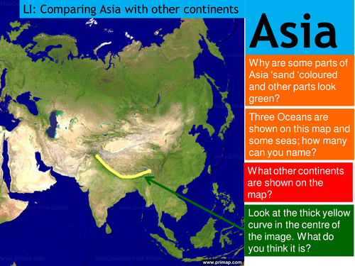 What And Where Is Asia By Kentp Teaching Resources Tes - Where is asia