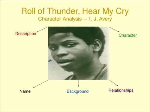 Roll of thunder hear my cry tj avery essay