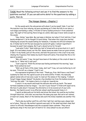 Hunger Games Comprehension & Answers