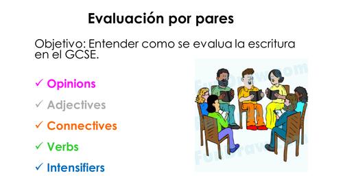 Peer Assessment - GCSE Writing Spanish