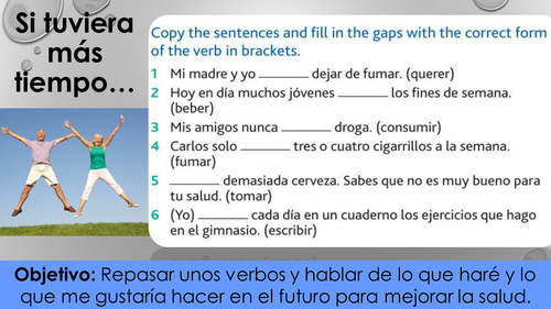 Salud / Health GCSE Spanish - Future & Second Conditional