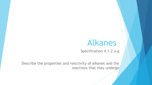 Alkanes  (4.1.2) OCR AS Chemistry H032