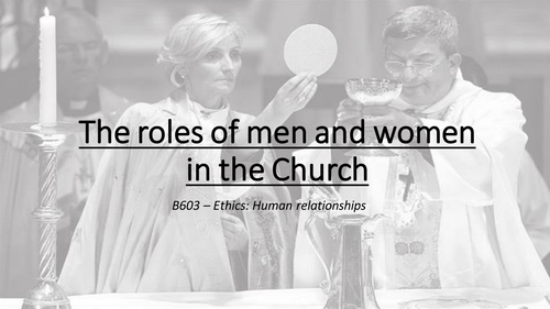 The roles of men and women in the Church