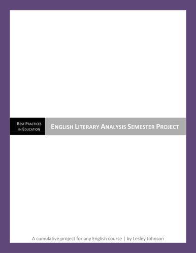 English Literary Analysis Semester Project