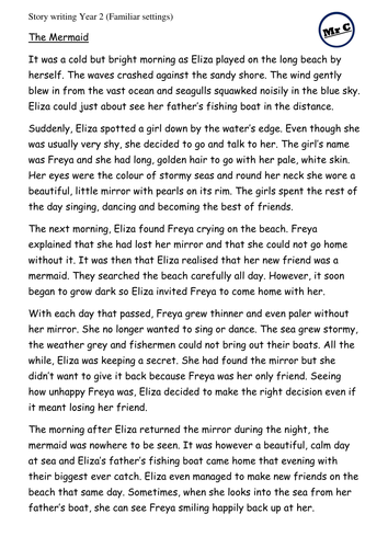 Year 2 Story Writing Model - The Mermaid (Autumn Term)