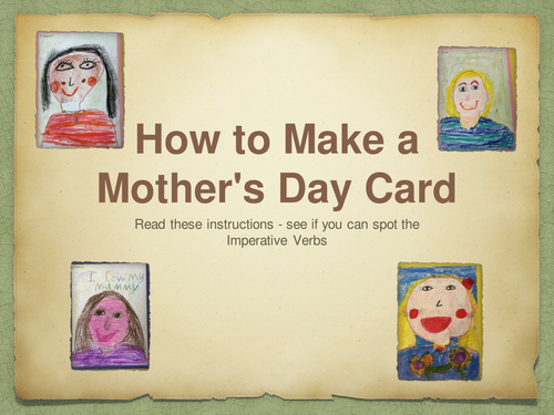 Design Technology Make  A Mother's Day Card