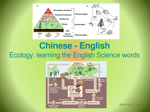 Biology: Scientific English for Chinese Students - Ecology