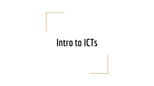 Introductory ICT class