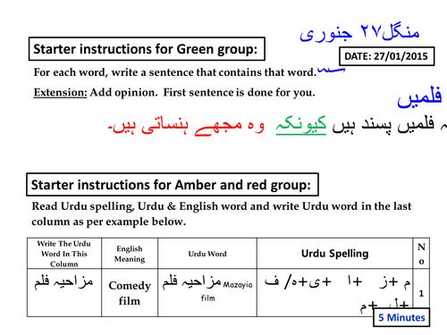 Films and Cinema in Urdu