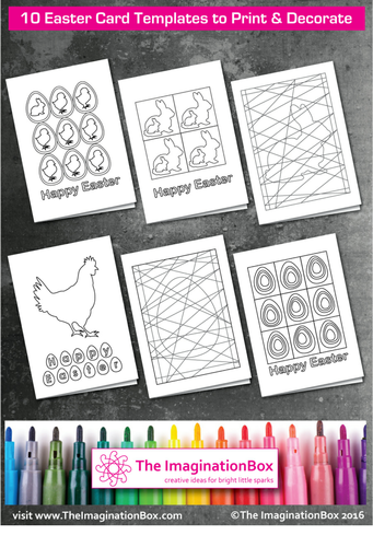 10 Easter card templates & Happy Easter Bunting