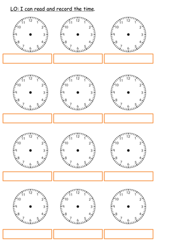 Drawing time analogue clock face worksheets Year 2 Year 3 - upper ...