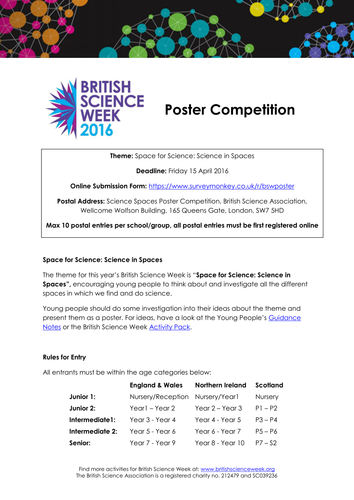 British Science Week 2016 Poster Competition